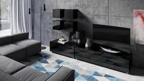 Čierna obývacia stena Virgo