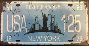 Ceduľa značka USA New York