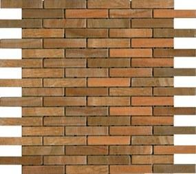 Kamenná mozaika Premium Mosaic Stone oranžová 30x30 cm mat STMOS1575ORW