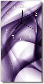 Nástenné hodiny vertikálne  Umenie fialová abstrakcie