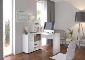 Biely rohový pracovný stôl Cansa