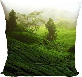 Vankúš Zelená lúka (Veľkosť: 55 x 55 cm)