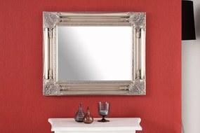 Bighome - Zrkadlo RENESANCIA ANTIK SMALL 55x45 cm - strieborná