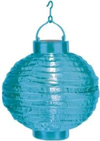 Modrý vonkajší solárny LED lampión Best Season Summer, ø 30 cm