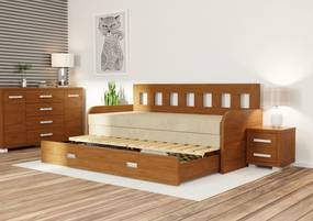 Wood Service Rozkladacia posteľ Linda R 90 x 200