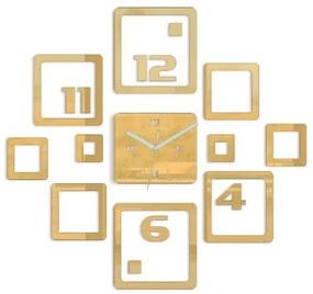 Mazur 3D nalepovacie hodiny Otto zlaté