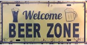 Ceduľa značka Welcome beer zone