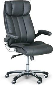 Kožené kancelárske kreslo COMBI XL, čierna