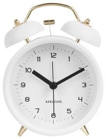 Karlsson Dizajnový budík Classic Bell White