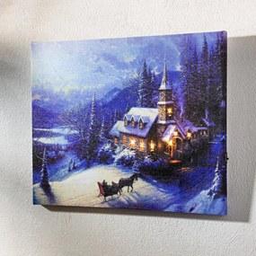 Magnet 3Pagen LED obraz Zimná krajina