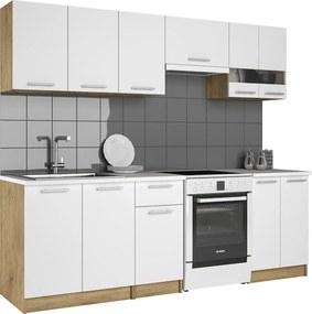 NABBI Barletta 240 kuchyňa dub craft zlatý / biela