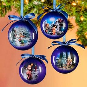 Magnet 3Pagen 4 vianočné gule Hummel, svetlomodrá