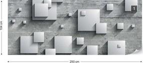 Fototapeta GLIX - Concrete Squares 3D + lepidlo ZADARMO Vliesová tapeta  - 250x104 cm