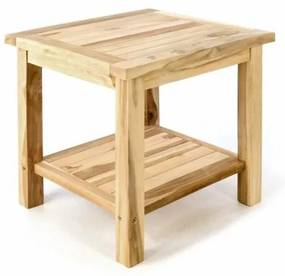 Záhradný odkladací stolík z masívneho teaku DIVERO