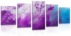 5-dielny obraz kúzelná fialová abstrakcia