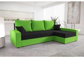 Praktická sedacia súprava CATALINA - zelená / čierna