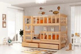 Defi - poschodová posteľ 160x70 borovica