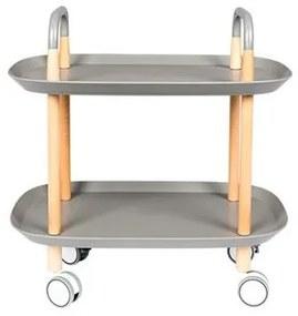 Pojízdný odkládací stolek TROLLEY, grey White Label Living 7900015