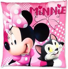 Setino - Vankúšik / vankúš Minnie Mouse - Disney, 40 x 40 cm