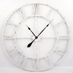 Nástenné hodiny Old Style, 83 cm biela