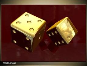 Obraz na plátne Zlaté hracie kocky, Obdĺžnik 90x60cm 60,8 €