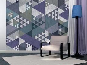 Tapeta Bimago - Blue patchwork + lepidlo zadarmo rolka 50x1000 cm