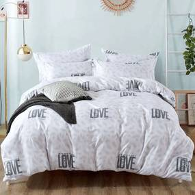 HOD Bavlnené obliečky PURE LOVE biele 7 set 140x200cm