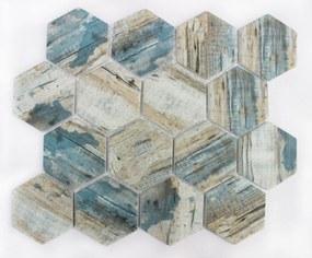 Sklenená mozaika Premium Mosaic blue 26x30 cm mat MOSV84HBL