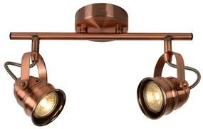 Lucide Lucide 77974/10/17 - LED bodové svietidlo CIGAL 2xGU10/5W/230V medená LC0536