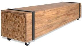 vidaXL TV stojan, teakový, 150x30x30 cm