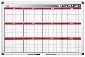 Bi-Office Ročná plánovacia tabuľa
