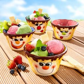 Die moderne Hausfrau Misky na zmrzlinu, 4 ks