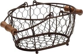 Kovový košík T&G Woodware Provence, 20 × 14 cm