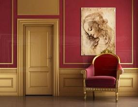 Obraz na plátne HLAVA ŽENY – Leonardo Da Vinci REP166