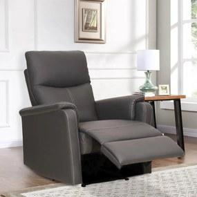 Komfortné relaxačné polohovateľné kreslo NAPOLEON – sivá farba