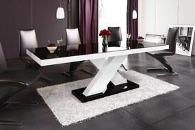 HUBERTUS Jedálenský stôl XENON Farba: čierna/biela