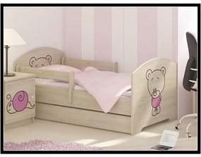 MAXMAX Detská posteľ s výrezom MÉĎA - ružová 140x70 cm + matrac ZADARMO!