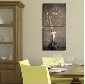 Obrazové hodiny Kompozícia s vázou, 60 × 28 cm