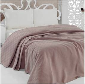 Prikrývka na posteľ Pique Brown, 200x240 cm