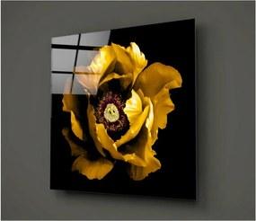 Čierno-žltý sklenený obraz Insigne Rustenna, 40 × 40 cm