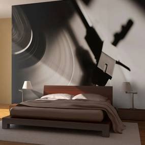 Fototapeta - Gramophone and vinyl record 400x309