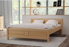 Vyvýšená posteľ ANGEL, 90x200 cm, prírodný-lak