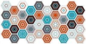 Obkladové 3D PVC panely rozmer 973 x 492 mm, hrúbka 0,2 mm, hexagon moderný Patchwork