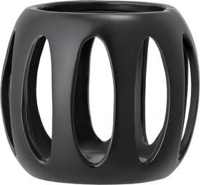 Bloomingville Keramický svietnik Black Stoneware