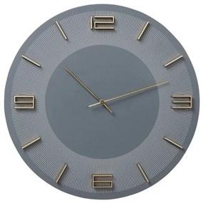 KARE DESIGN Nástenné hodiny Leonardo šedo zlatá