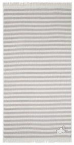 LUPILU® Detská froté mäkká osuška, 70 x 140 cm (šedá / biela), šedá / biela (100305699)