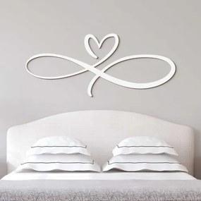 Drevená dekorácia do spálne - Nekonečná láska