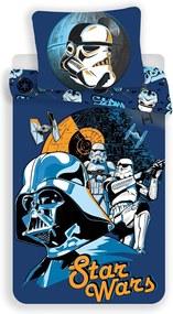 Jerry Fabrics Bavlnené obliečky Star Wars Blue, 140 x 200 cm, 70 x 90 cm