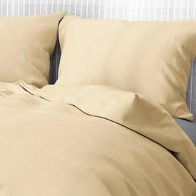 Goldea bavlnené posteľné obliečky - béžové 140 x 220 a 70 x 90 cm