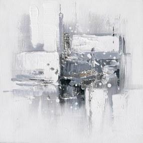 Falc Ručne maľovaný obraz - Šedý minimalizmus 2, 30x30 cm